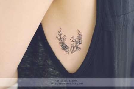 Женственные минималистичные татуировки