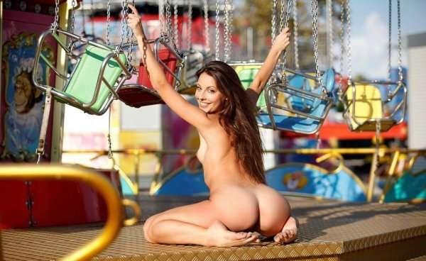 Lorena  в парке аккракционов