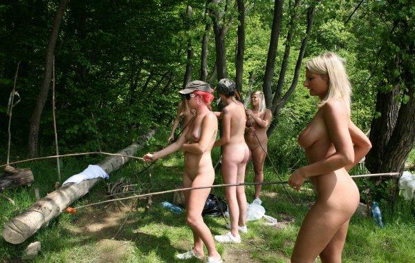 Русские нудисты на природе